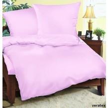 Luxusní saténové povlečení Traventina prodloužené sv.růžové 70x90 + 140x220 cm Veratex