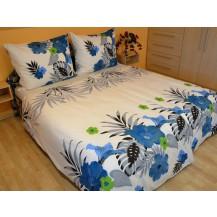 Povlečení francouzské bavlna 240x200,70x90 Lilie modrá, Výběr zapínání: zipový uzávěr