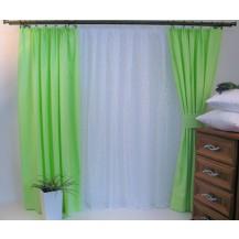 Závěs Orlando zelený - výška 260/ šířka 150cm Veratex