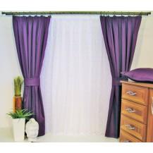 Závěs Orlando tmavě fialový - výška 270/ šířka 150cm