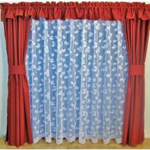 Záclona kusová - Lístečky 200x300 cm (bílá)