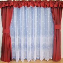 Záclona kusová - Vanesa 240x200 cm (bílá)
