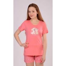 Dámské pyžamo šortky Kočka a pes