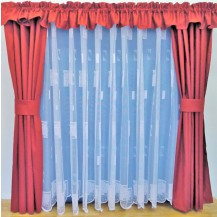 Záclona kusová - Kopretinka 230x400 cm (bílá)