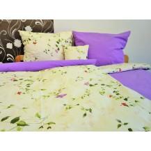 Bavlněné povlečení  70x90 - 140x200 květ / fialka