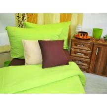 Bavlněné povlečení francie  2x70x90 + 220x200 cm (žlutozelené)