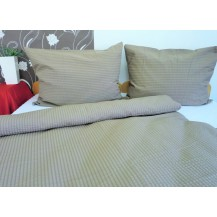 Krepové povlečení 70x90, 140x200 cm (kávové) Veratex