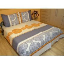 Přehoz přes postel dvoulůžkový Fiona šedá, Výběr rozměru: 240x220cm