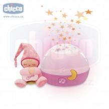 Chicco Lampička hrající noční obloha - růžová Chicco