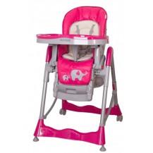 Jídelní židlička COTO BABY Mambo Hot Pink - SLONÍCI Coto baby