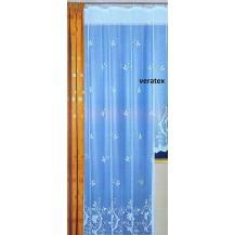 Záclona kusová - Darina výška 250 x 180 cm (bílá) balkonová