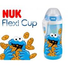 Sportovní plastová lahvička se slámkou NUK SEZAM - modrý NUK