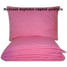 Set deka1200g + polštář 950g bavlněná růžová -140x200+70x90cm