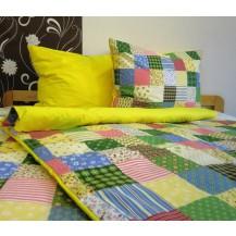 Bavlněné povlečení francie  2x70x90 + 220x200 cm (R0963 / žlutá)
