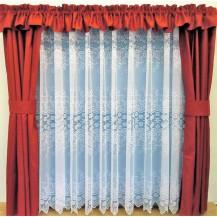 Záclona kusová - Šípková růže 150x300 cm (bílá)