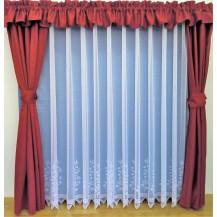 Záclona Borůvka výška 130 cm (bílá)