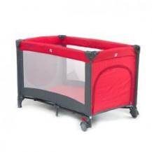 Dětská cestovní postýlka QX -805 - tm. červená EURO BABY