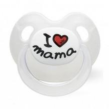 Silikonový ortodontický dudlík BIBI -I love Mama BIBI