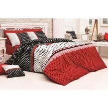 Přehoz přes postel jednolůžkový Vanesa červená Brotex