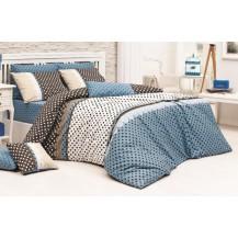 Přehoz přes postel dvojlůžkový Vanesa modrá Brotex