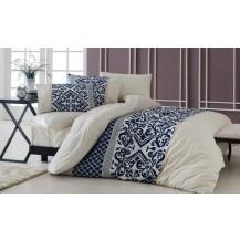 Přehoz přes postel dvojlůžkový Natalia modrobéžová Brotex