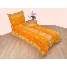 Prodloužené povlečení flanel 140x220, 70x90 Kola oranžová Brotex
