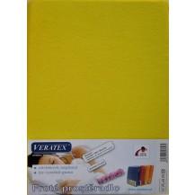 Froté prostěradlo 130x200 cm (č. 6-stř.žlutá) Veratex