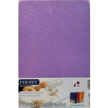 Froté prostěradlo 130x200 cm (č. 9-tm.fialová) Veratex