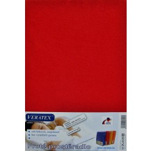 Froté prostěradlo 130x200 cm (č.18-červená) Veratex