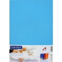 Froté prostěradlo 130x200 cm (č.22-stř.modrá) Veratex