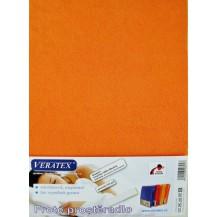Froté prostěradlo 130x200 cm (č.23-oranžová) Veratex
