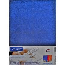 Froté prostěradlo 130x200 cm (č.24-nám.modrá) Veratex