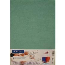 Froté prostěradlo 130x200 cm (č.28-tm.zelená) Veratex