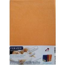Froté prostěradlo 130x200 cm (č.14 broskvová) Veratex