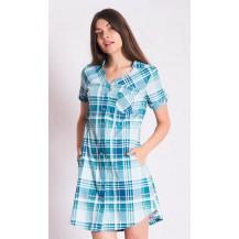 Dámské domácí šaty s krátkým rukávem Marie - starorůžová S Vienetta