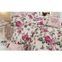 Přehoz přes postel dvojlůžkový Neva růžová Brotex
