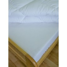 Plátěné prostěradlo s gumou 90x200 cm (bílé) Veratex