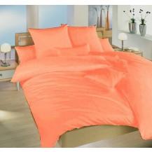 Francouzské povlečení krep UNI 240x200, 70x90cm Oranžové, Výběr zapínání: nitěný knoflík