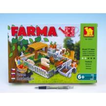 Stavebnice Dromader Farma 28501 177ks v krabici 32x21,5x5cm