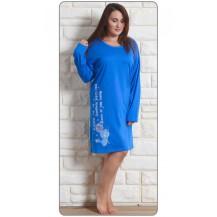 Dámská noční košile s dlouhým rukávem Angela - malinová 1XL Vienetta