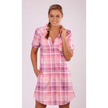 Dámské domácí šaty s krátkým rukávem Maruška - starorůžová 1XL Vienetta