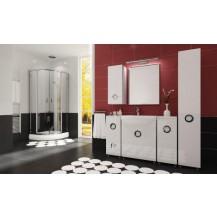 Koupelnová sestava-Ariel-bílý lesk FALCO - doprava zdarma