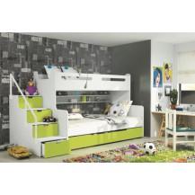 Dětská patrová postel Maty zelená - doprava zdarma
