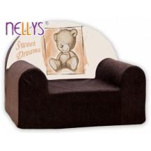 Dětské křesílko/pohovečka Nellys ® - Sweet Dreams by TEDDY - hnědé