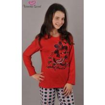 Dětské pyžamo dlouhé Pes s mikrofonem - červená 9 - 10 Vienetta Secret