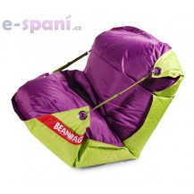Sedací vak 189x140 duo limet - purple