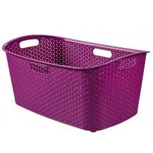 MY STYLE 47L koš na čisté prádlo  - fialový