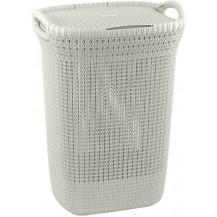 KNIT koš na prádlo 57L - krémový
