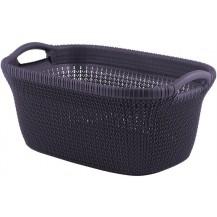 KNIT koš na čisté prádlo 40L - fialový