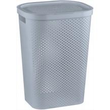 INFINITY DOTS 59L koš na prádlo - šedý